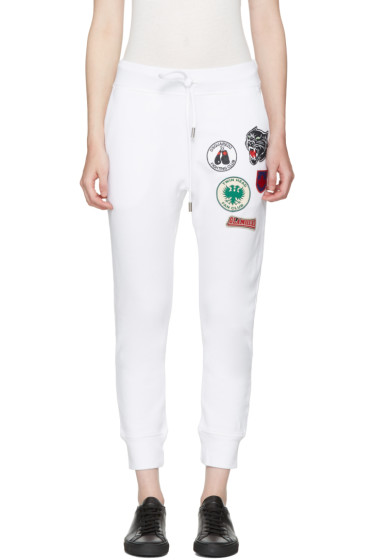 Dsquared2 - White Classic Patches Lounge Pants