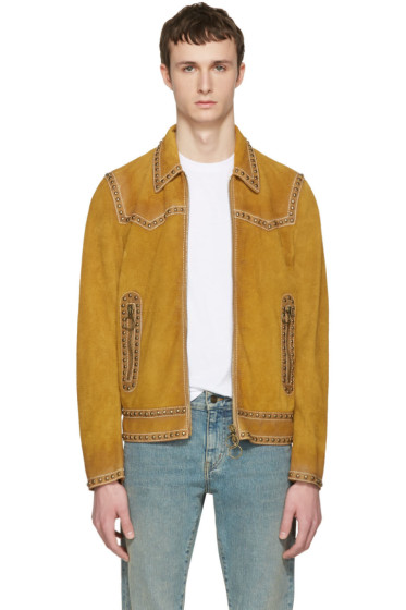 Dsquared2 - Tan Suede Studded Western Jacket