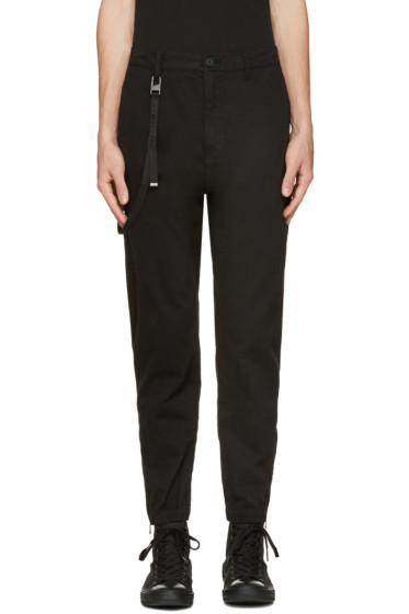 Helmut Lang - Black Curved Leg Trousers