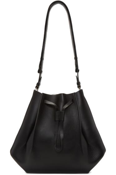 Maison Margiela - Black Leather Bucket Bag