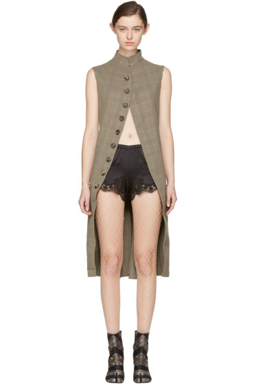 Maison Margiela - Beige Long Wool Vest