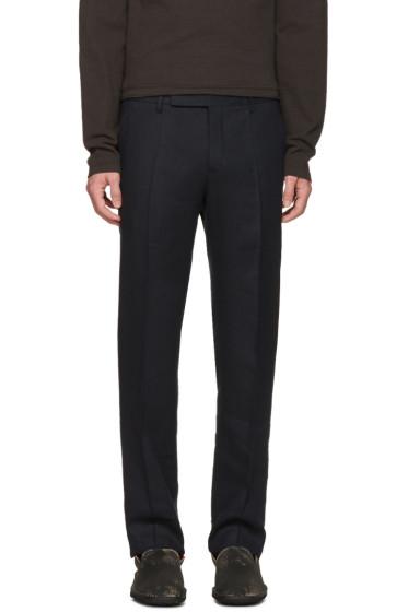 Maison Margiela - Navy Pleated Trousers