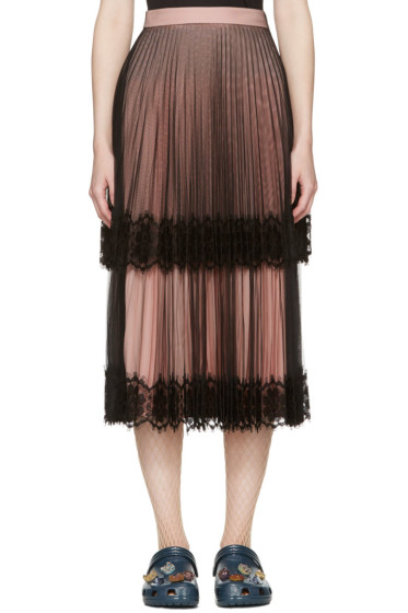 Christopher Kane - Black & Pink Layered Tulle Skirt