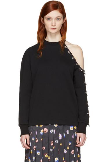 Christopher Kane - Black Eyelet & Rings Sweatshirt