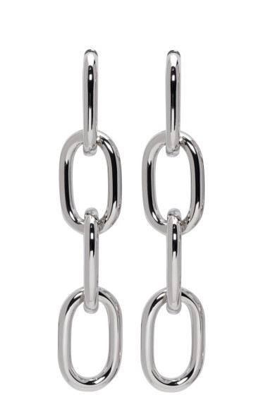 Alexander Wang - Silver Four-Link Chain Earrings