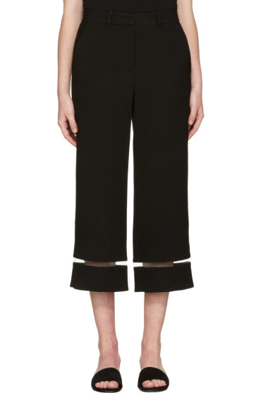 Alexander Wang - Black Tailored Fishline Trousers