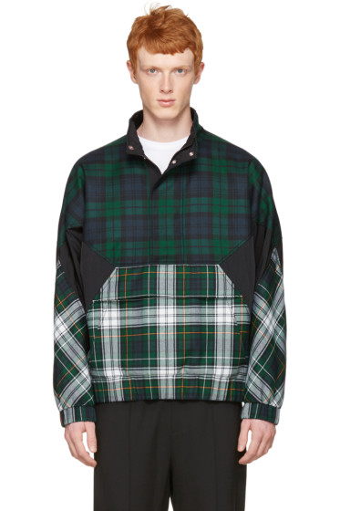 Alexander Wang - Green Panelled Check Jacket