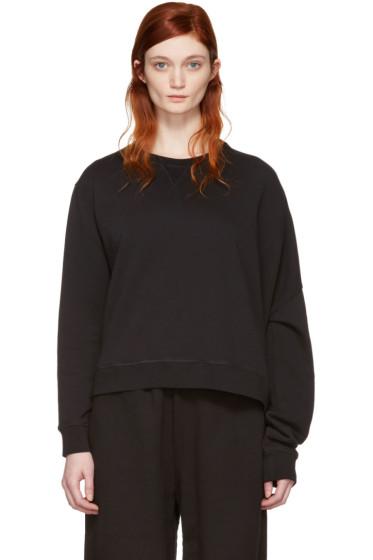 MM6 Maison Margiela - Black Basic Asymmetric Pullover