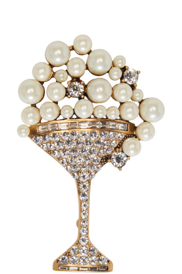 Marc Jacobs - Gold Martini Brooch