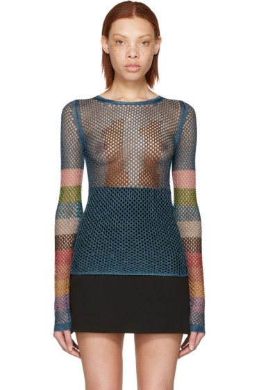 Marc Jacobs - Blue Fishnet Stardust Crewneck Pullover