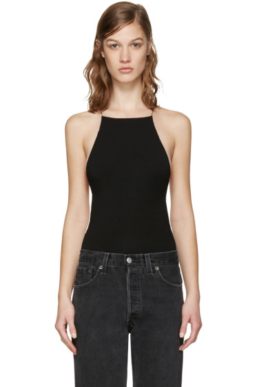 T by Alexander Wang - Black Low Back Bodysuit