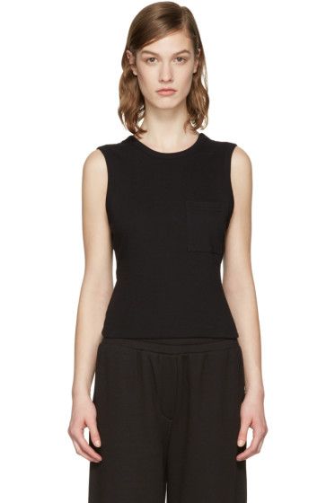 T by Alexander Wang - Black Open Back Twist Tank Top