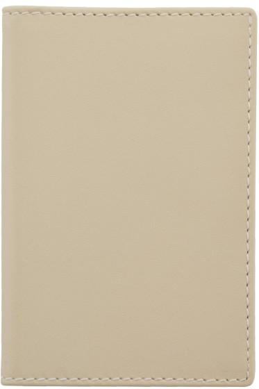 Comme des Garçons Wallets - Off-White Leather Cardholder
