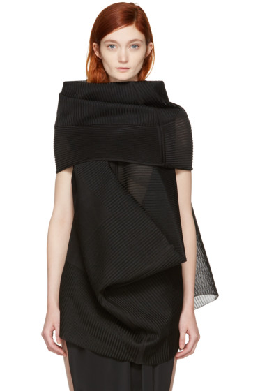Rick Owens - Black Sleeveless Turtleneck