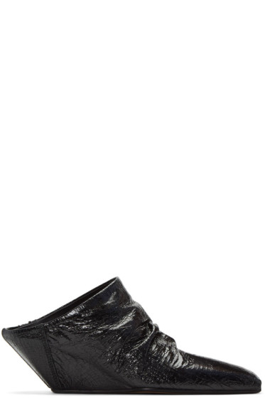 Rick Owens - Black Sabot Wedge Heels