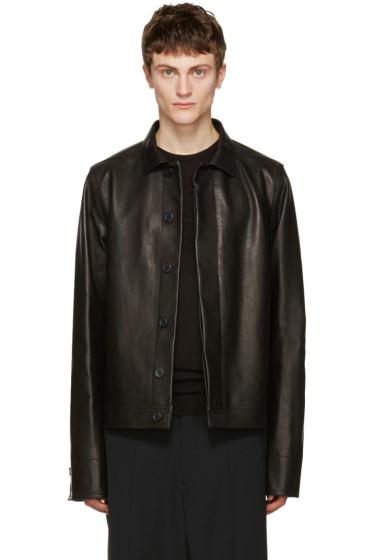 Rick Owens - Black Leather Brotherhood Jacket
