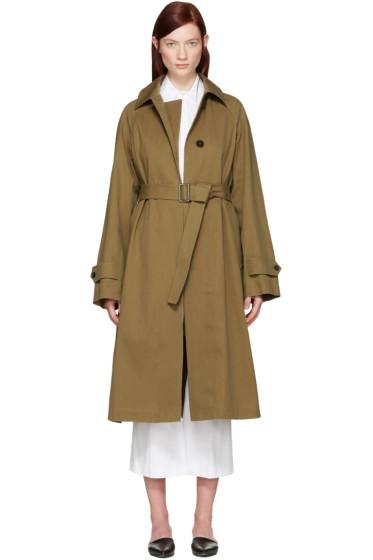 Jil Sander - Tan Croquet Trench Coat