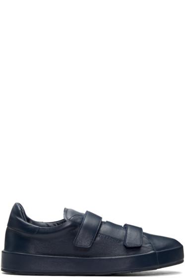 Jil Sander - Navy Triple Velcro Sneakers