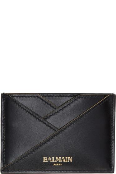 Balmain - Black Geometric Card Holder