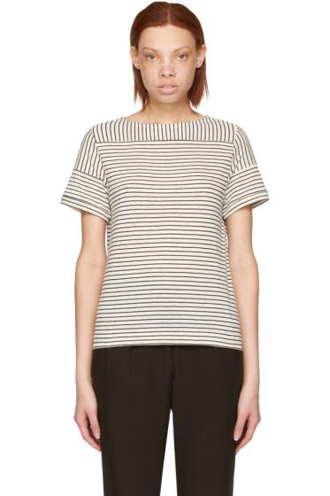 A.P.C. - Ecru Striped Malia T-Shirt
