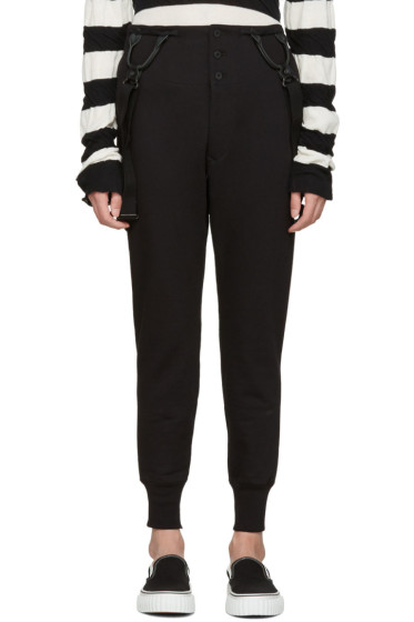 Junya Watanabe - Black Suspender Lounge Pants