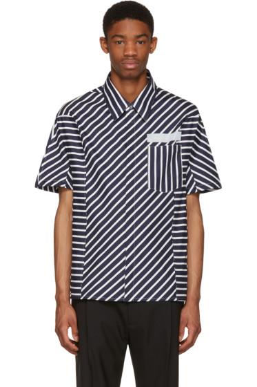 Lanvin - Navy Stripes Shirt