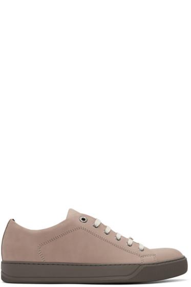 Lanvin - Pink Suede Tennis Sneakers