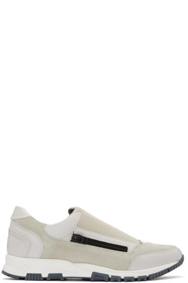 Lanvin - Off-White Zip Sneakers