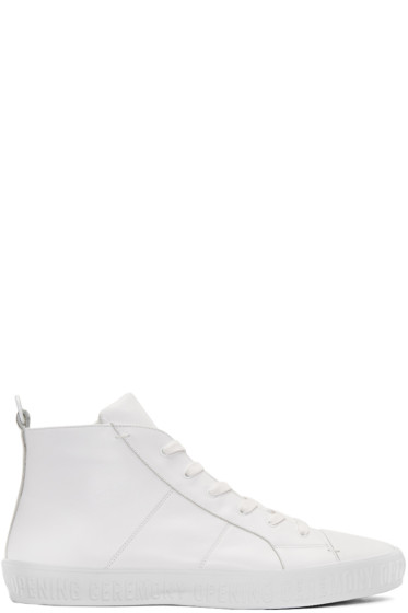 Opening Ceremony - White Howard High-Top Sneakers