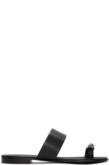 Giuseppe Zanotti - Black Gim Sandals