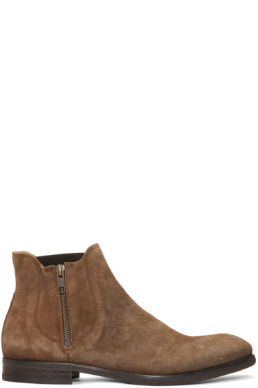 H by Hudson - Brown Suede Mitchell Boots