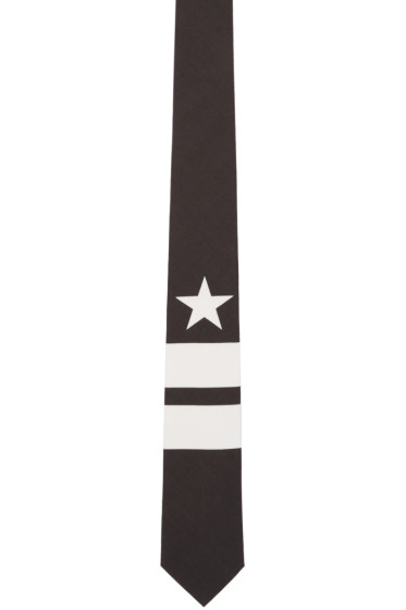 Givenchy - Black Stripes & Star Tie