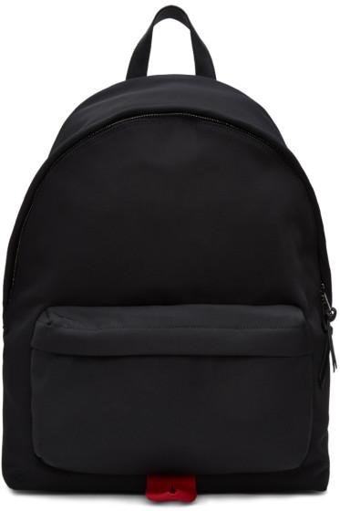 Givenchy - Black Logo Strap Urban Backpack