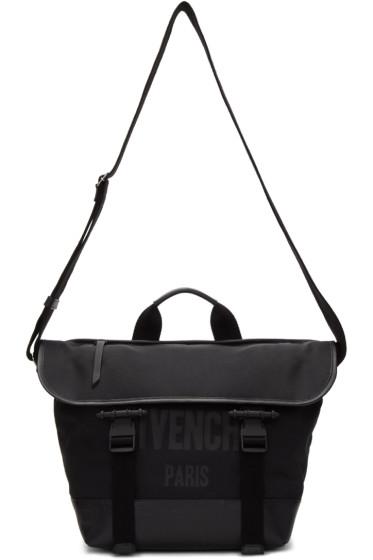 Givenchy - Black Canvas Messenger Bag
