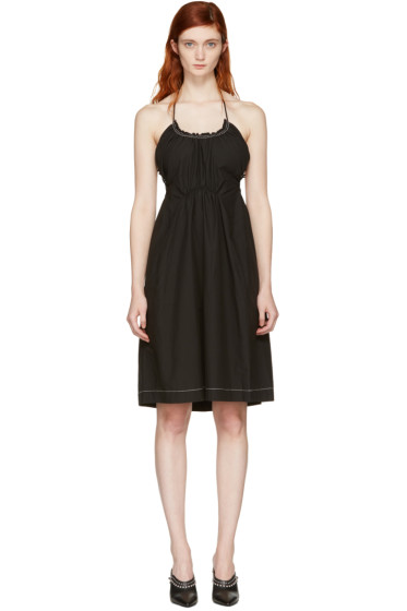 3.1 Phillip Lim - Black Gathered Cotton Dress