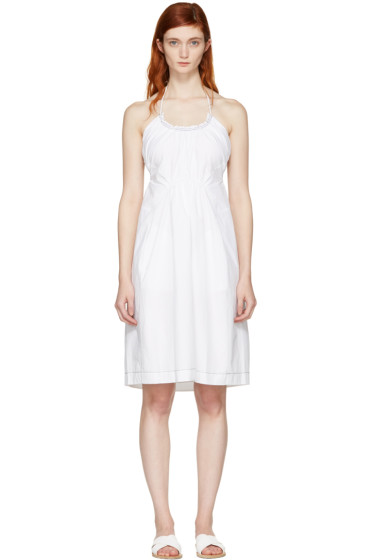 3.1 Phillip Lim - White Gathered Cotton Dress