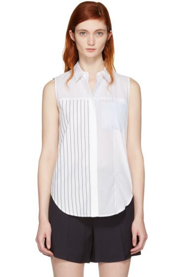 3.1 Phillip Lim - White Patchwork Sleeveless Shirt