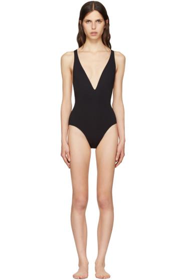 Proenza Schouler - Black Cross-Back Swimsuit
