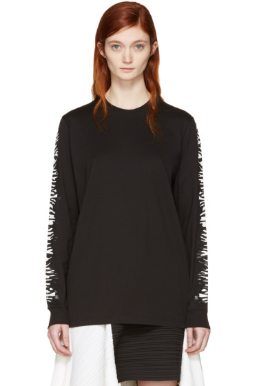 Proenza Schouler - Black Zebra Sleeves T-Shirt