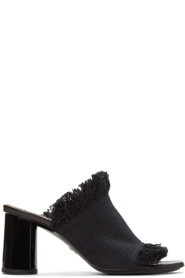 Proenza Schouler - Black Canvas Mules
