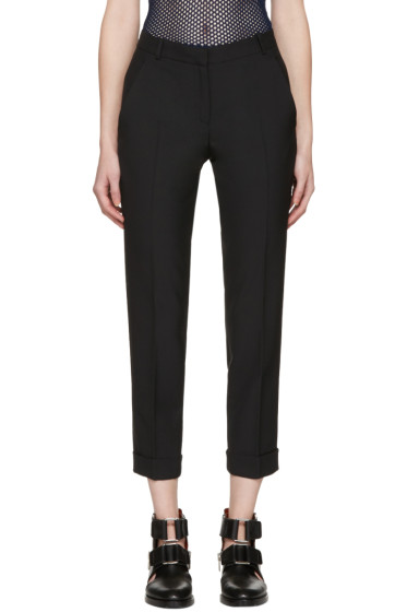 Carven - Black Cropped Cuffs Trousers