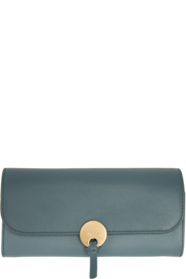 Chloé - Blue Long Indy Wallet