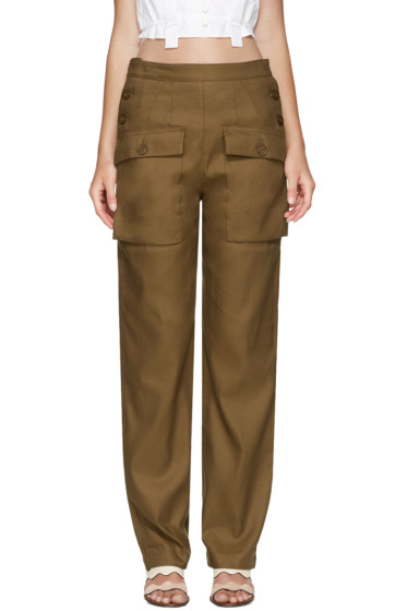 Chloé - Brown Cargo Pockets Trousers