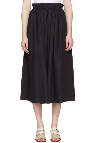 Chloé - Navy Cotton Skirt