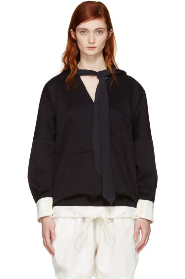 Chloé - Navy Oversized Scarf Sweater