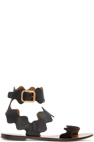 Chloé - Black Lauren Flat Sandals