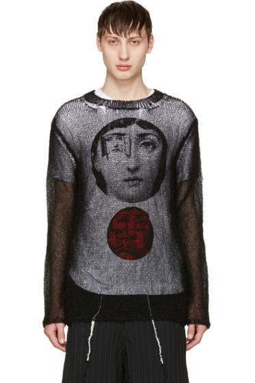 Comme des Garçons Homme Plus - Black Monofilament Yarn Sweater