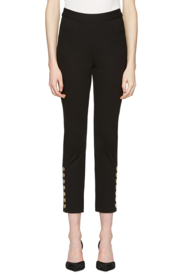Pierre Balmain - Black Gold Buttons Trousers