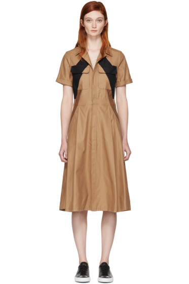 Neil Barrett - Tricolor Modernist Dress