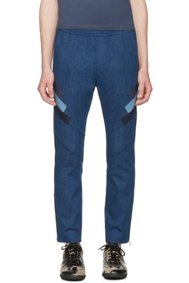 Neil Barrett - Indigo Modernist Biker Jeans